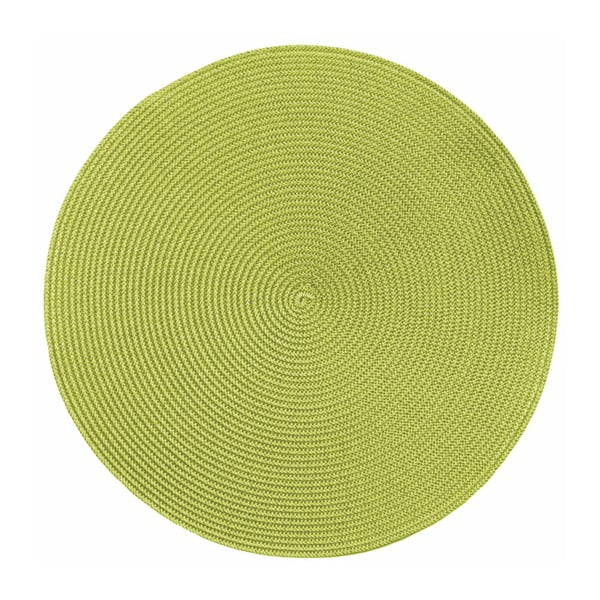 Suport rotund pentru farfurie Tiseco Home Studio Round Chambray, ø 38 cm, verde