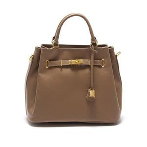 Béžová kožená kabelka Isabella Rhea Azalea