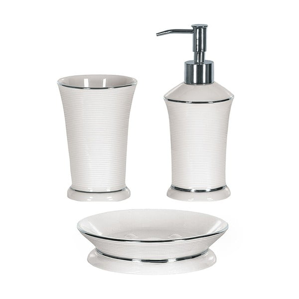 Koupelnový set Ascot White/Silver