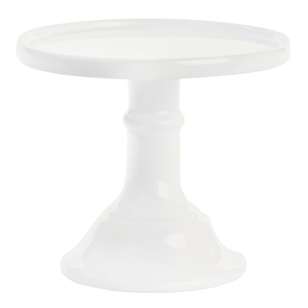 Bílý keramický podnos na dort Miss Étoile, ø 15,5 cm