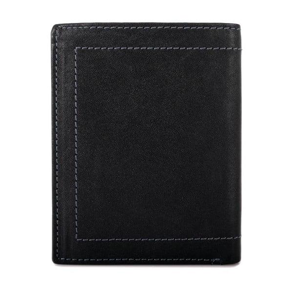 Kožená peněženka Lois Black, 8,5x10,5 cm