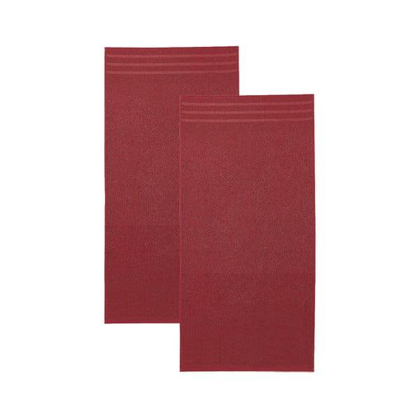 Set červených osušek, 30x50 cm, 2 ks