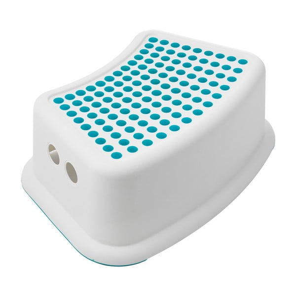 Biały stołek z niebieskimi detalami Addis Booster Step