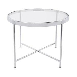 Bílý konferenční stolek Leitmotiv Smooth, 60 x 46 cm