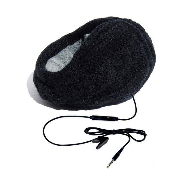 Hi-Ear Klapky na uši se sluchátky Treccia Nero