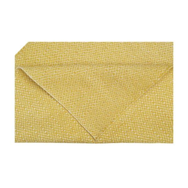 Ručně tkaný koberec Yellow Zigzag Kilim, 160x230 cm