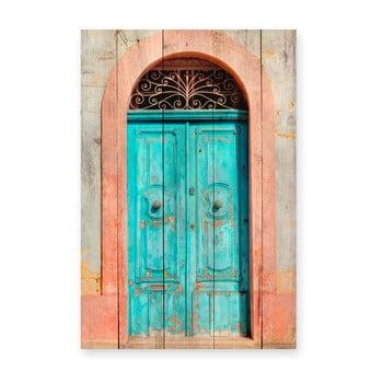 Tablou din lemn de pin Really Nice Things Door, 40 x 60 cm