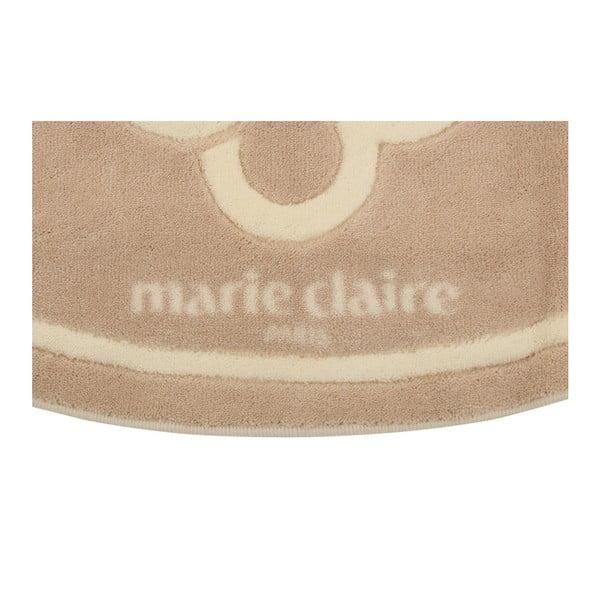 Béžová koupelnová předložka z edice Marie Claire Becci, 66 x 107 cm