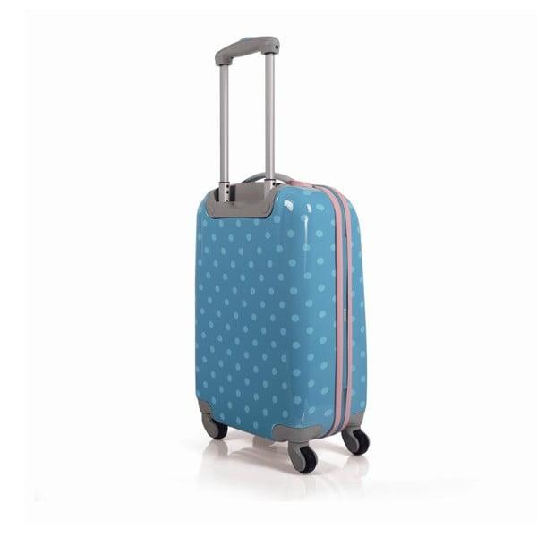 Tyrkysové kabinové zavazadlo s puntíky SKPA-T
