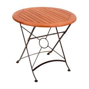 Zahradní skládací stůl z eukalyptového dřeva ADDU Vienna, ⌀80cm