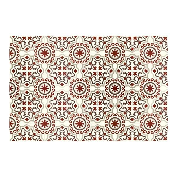 Koberec z vinylu Mosaico Trebol Rojo, 120x170 cm