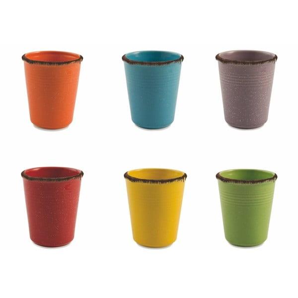 Baita 6 darabos kerámia pohárszett, 350ml - Villa d'Este