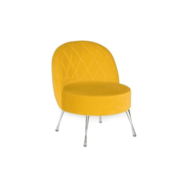 Křeslo Karo, žluté