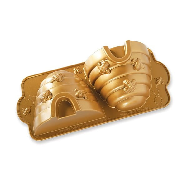 Forma na pečení ve zlaté barvě Nordic Ware Bee Hive, 2,4 l