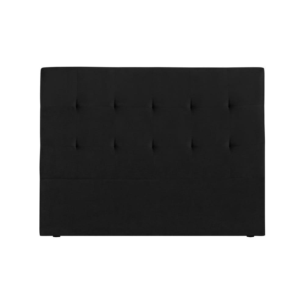Černé čelo postele Kooko Home Basso, 120 x 160 cm