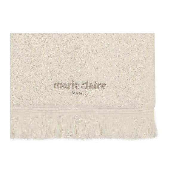 Krémový bavlněný ručník z kolekce Marie Calire Amy, 50x90 cm