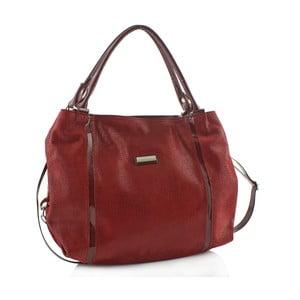 Kožená kabelka Boscollo Red 3299