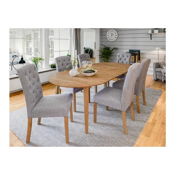 Oválný dubový rozkládací jídelní stůl Folke Mimi, délka až 210cm