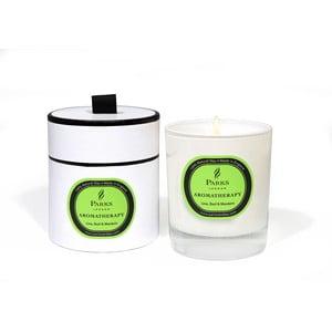 Svíčka s vůní limetky, bazalky a mandarinky Parks Candles London  Aromatherapy, 50 hodin hoření