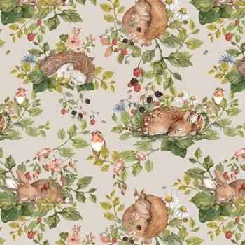 Tapet Dekornik Little Sleepy Animals Light, 50 x 280 cm de la Dekornik