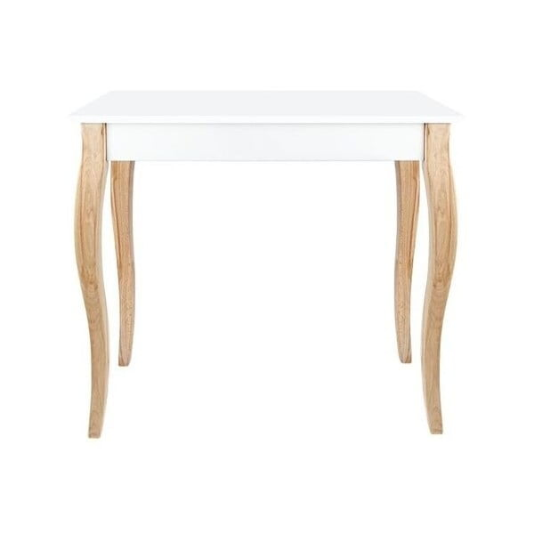 Biely odkladací konzolový stolík Dressing Table, 85×74cm