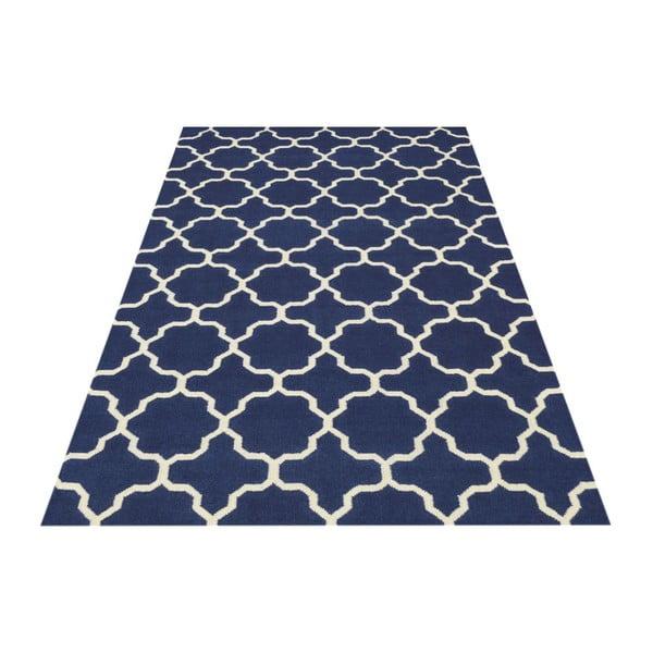 Ručně tkaný koberec Maria Blue/White, 60x90 cm