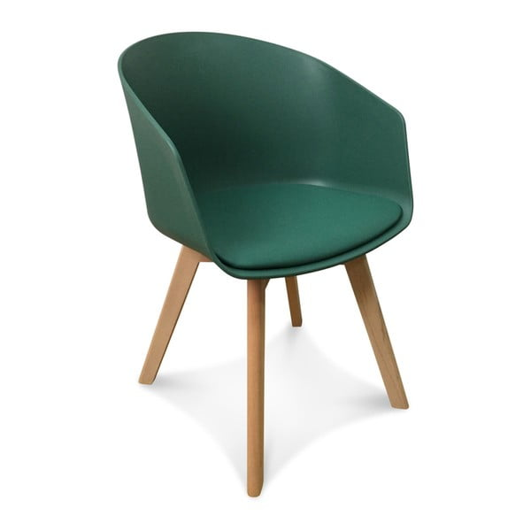 Sada 2 zelených židlí Opjet Paris Scandinave
