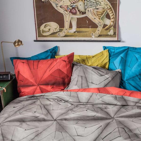 Červeno-hnědé povlečení Snurk Monogami, 140x200cm