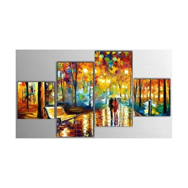 4dílný obraz Art Park, 50x100 cm
