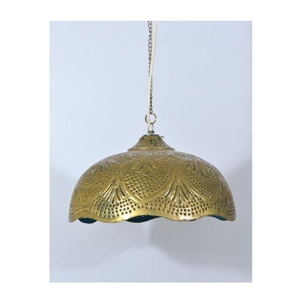 Mosazné stínítko Rajastan, zlato-tyrkysový spodek