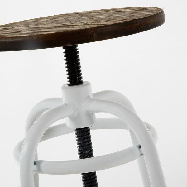 Sada 2 barových stoliček s bílým podnožím La Forma Malibu