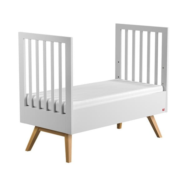 Mitra fehér átalakítható rácsos ágy, 140 x 70 cm - Vox