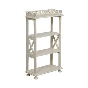 Dřevěný bílý stolek Biscottini Eder