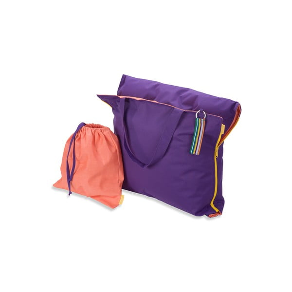 Skládací lehátko Hhooboz 150x62 cm, fialové
