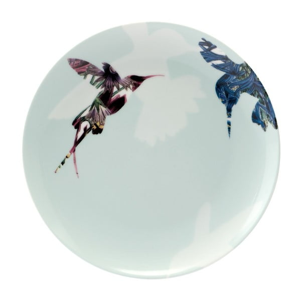 Sada 4 porcelánových talírů Flutter, 21 cm