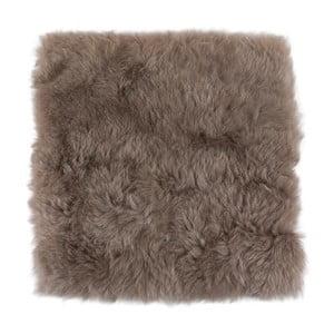 Pernă din blană cu fir scurt, pentru scaun, 37 x 37 cm , gri - maro