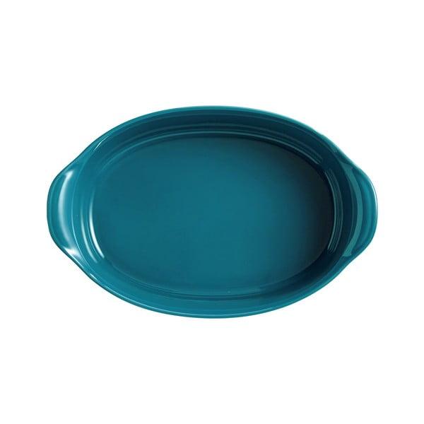 Tavă ovală pentru copt Emile Henry, 1,3 l, albastru turcoaz
