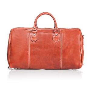 Medově hnědá kožená cestovní taška Medici of Florence Enrico