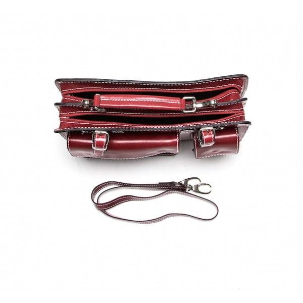 Kožená kabelka Isabella Rhea 309 Rosso