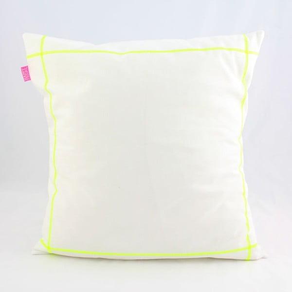 Povlak na polštář Basic Fluor yellow, 50 x 50 cm