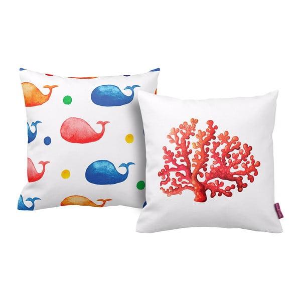Set 2 polštářů Coral, 43x43 cm