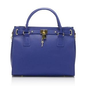 Modrá kožená kabelka Giulia Massari Blue