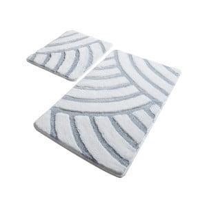 Sada 2 bílých koupelnových předložek Confetti Bathmats Alya White