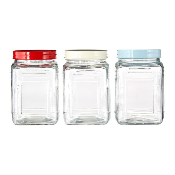 Set 3 recipiente din sticlă Premier Housewares, 750ml