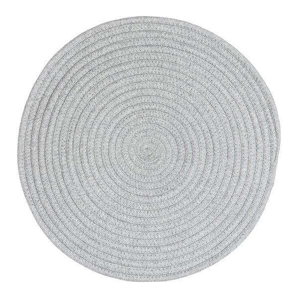 Prostírání Round Grey Cotton, 38 cm