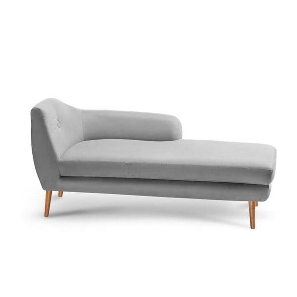 Canapea șezlong cu cotiera pe partea stângă Stella, gri