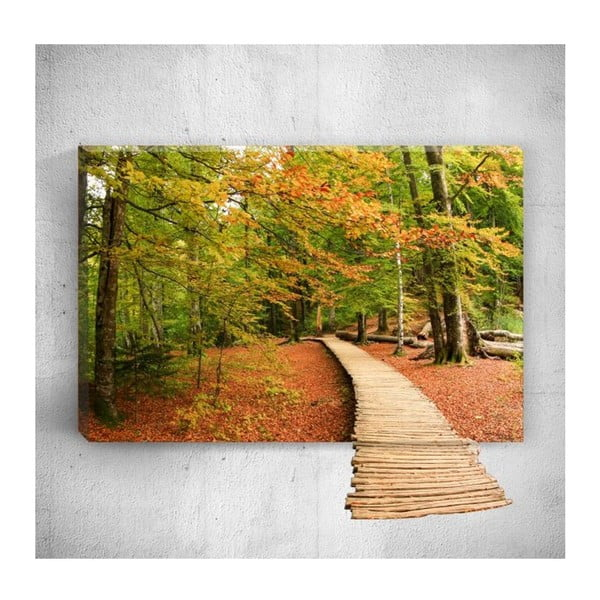 Tablou de perete 3D Mosticx Wood Way, 40 x 60 cm