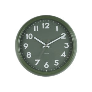 Ceas de perete Present Time Badge, verde
