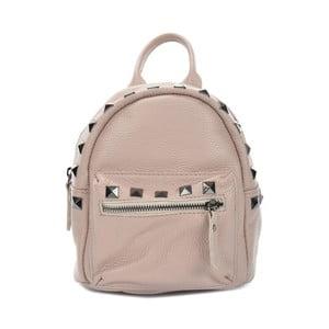 Pudrově růžový kožený batoh Mangotti Bags Agnese