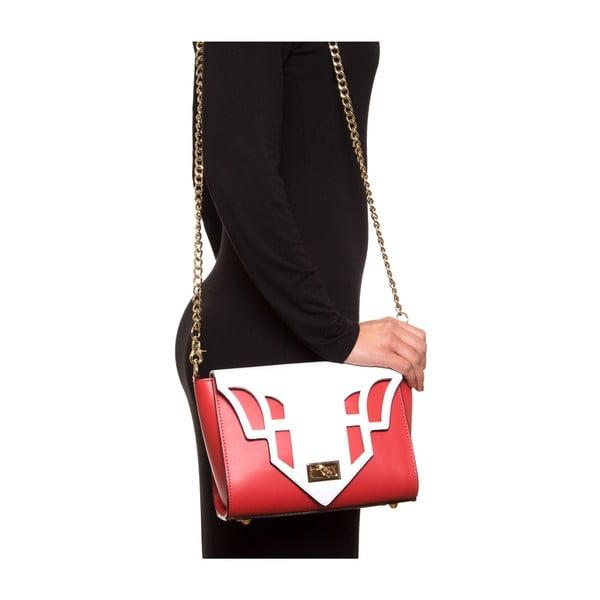 Kožená kabelka Luisa Vannini 3036, červená